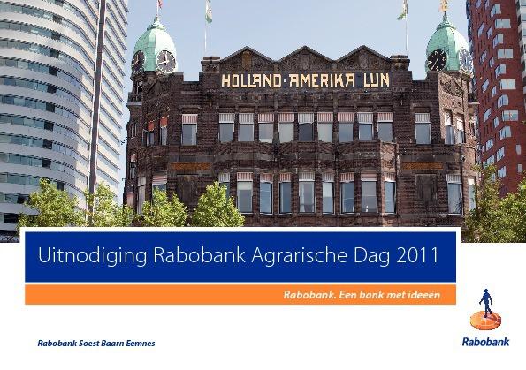 Uitnodiging voor de Rabobank