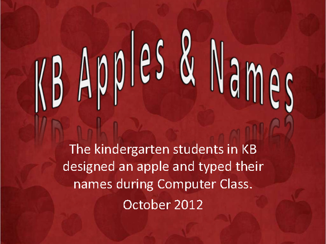 KB Apples & Names