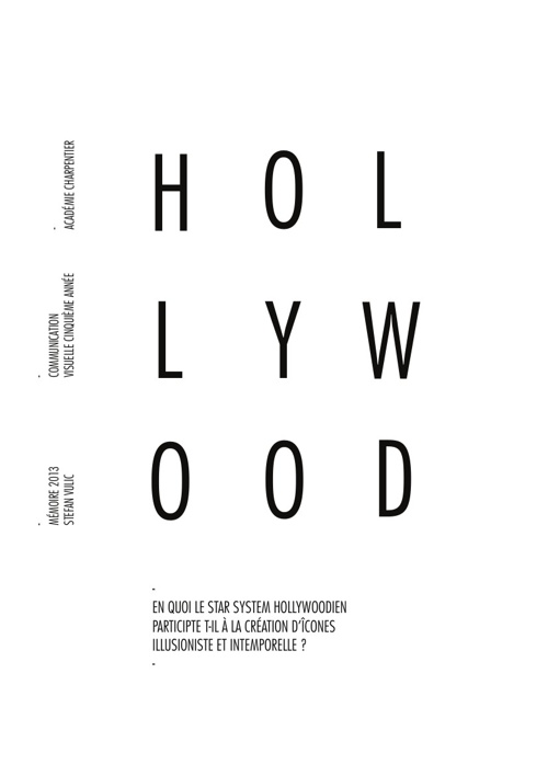Hollywood et son Star system