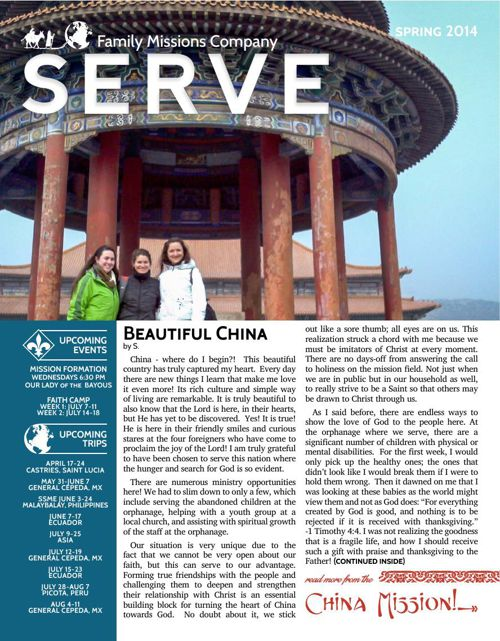 SERVE Newsletter | Spring 2014