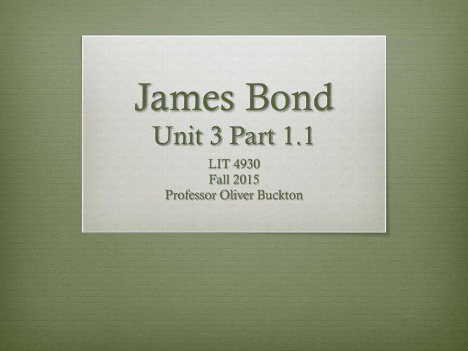 LIT 4930 Unit 3.1.1