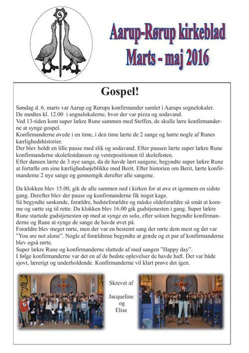Kirkeblad marts-maj Aarup-Rørup 2016