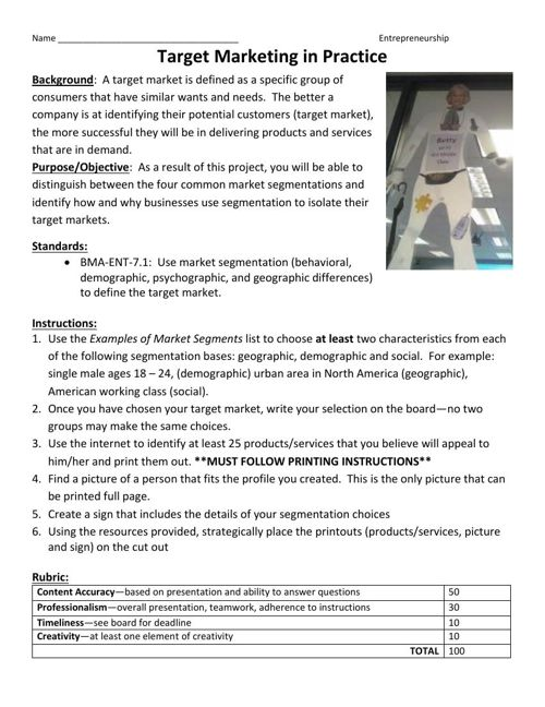 Standard I--Project Based Instruction A (Freeman)