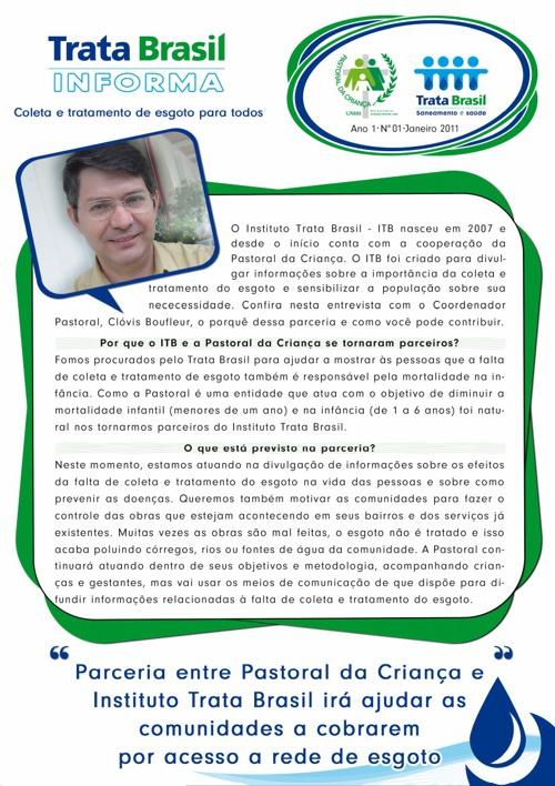 1ª Edição do Boletim Trata Brasil / Pastoral da Criança