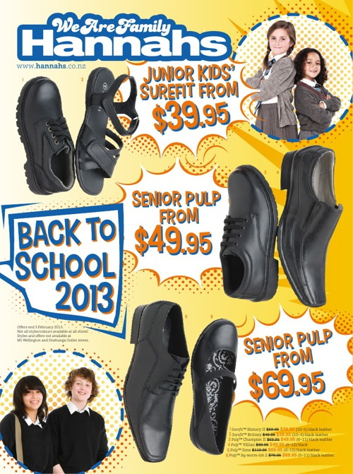 Hannahs Back to school mailer January 2013