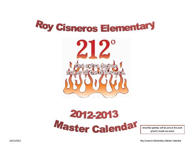 Roy Cisneros Calendar