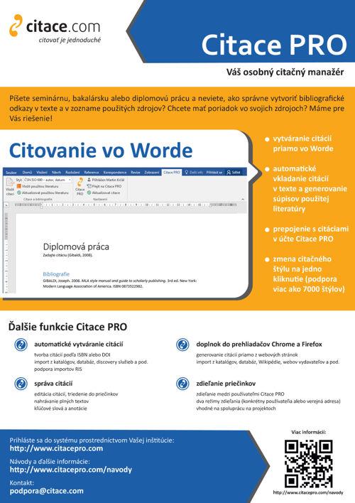 Doplněk do Wordu - leták (slovensky)