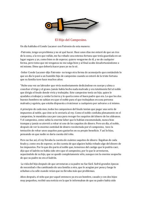 CONDE LUCANOR. MERCEDES URTASUN