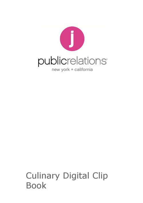 Culinary Digital Flip Book
