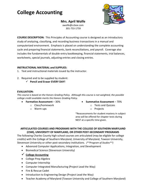 College Accounting Syllabus 15-16