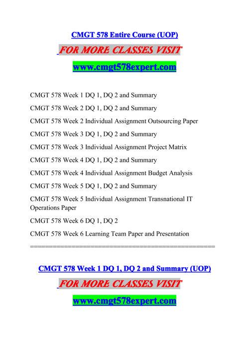 CMGT 578 EXPERT Experience Tradition/cmgt578expert.com