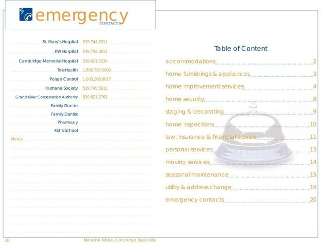 ConciergeBook Inside - Providers