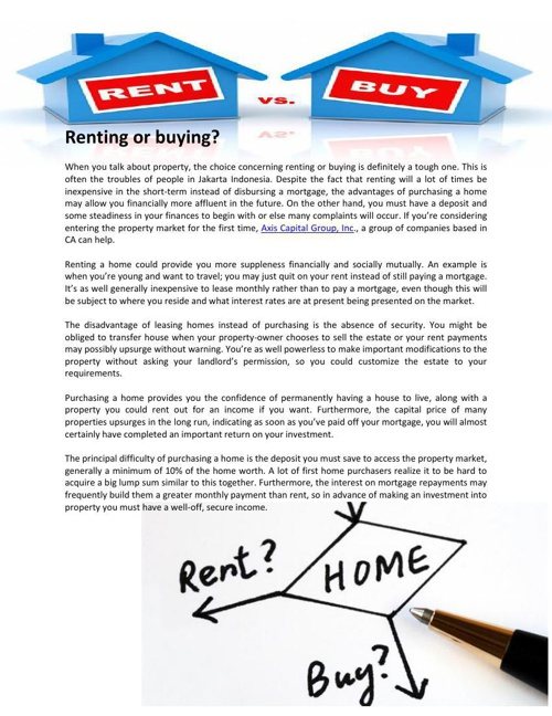 Axis Capital Group Inc Review Renting or buying