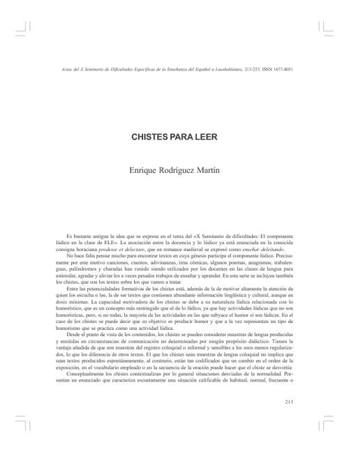 Catalogo de Chistes