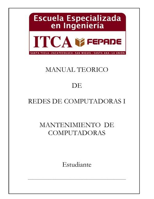 Manual Teorico de Redes de Computadoras I