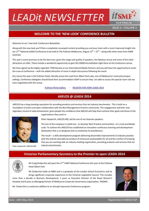 itSMF Newsletter - TEMPLATE