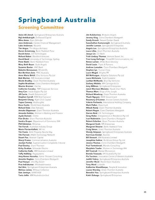 Springboard Enterprises 2014 Annual Guide