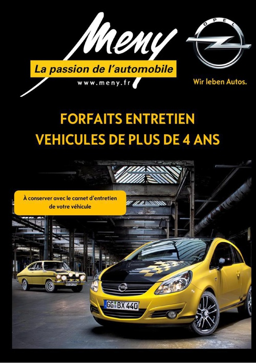 Forfaits Entretien Opel MENY