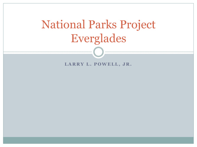 larrys everglades national park project