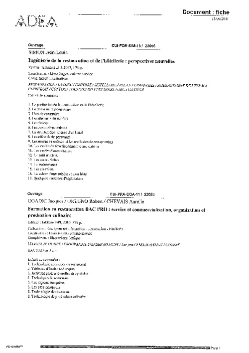 Dernières acquisitions manuels éducation formation - 09-2011