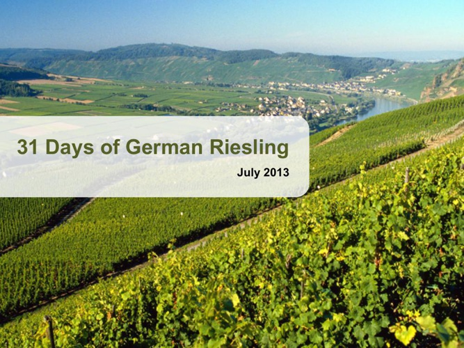 31 Days of German Riesling 2013 Recap