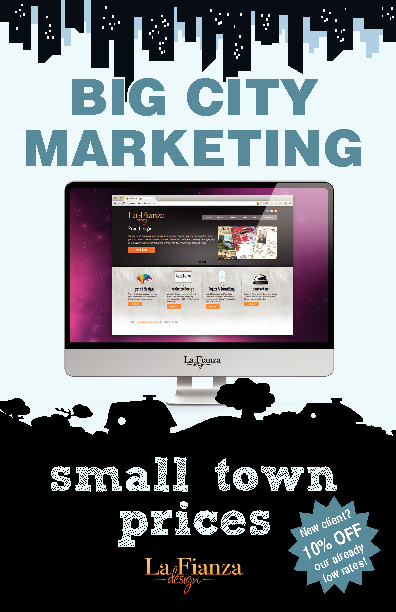 Big City Marketing - Small Town Prices brochure