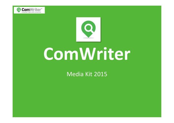 ComWriter Media Kit (2-02-2015)