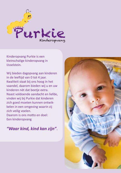 Kinderopvang Purkie folder 2017