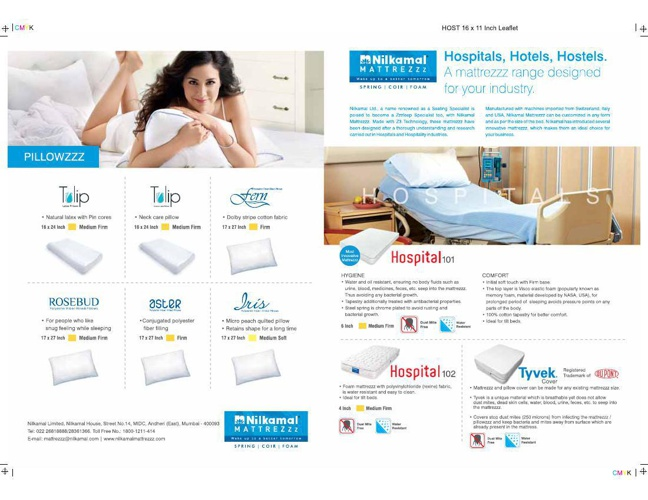 SPECIALISED MATTRESSS FOR HOTEL, HOSPITALS & HOSTELS
