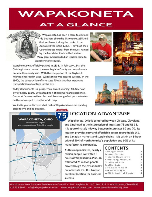 Booklet - Wapak at Glance