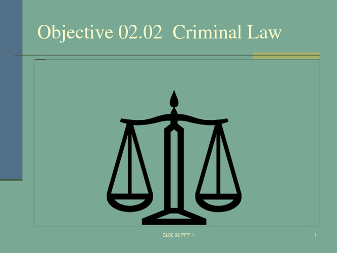 Objective 2.02-Criminal Law
