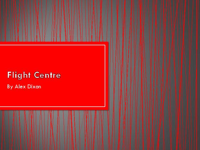 Flight Centre Company Research