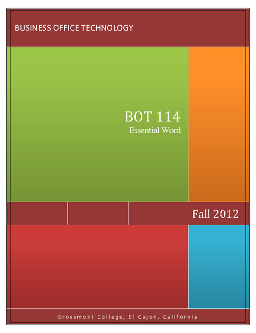 BOT 114 SYLLABUS - Fall 2012