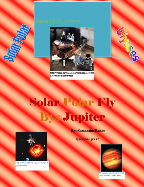 Solar Polar Fly Bys Jupiter