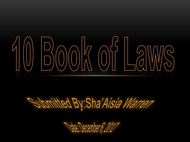 10 Book Of Laws