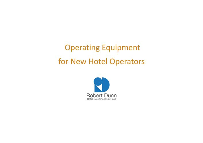 Special service for hotel brand operators short 2017-2