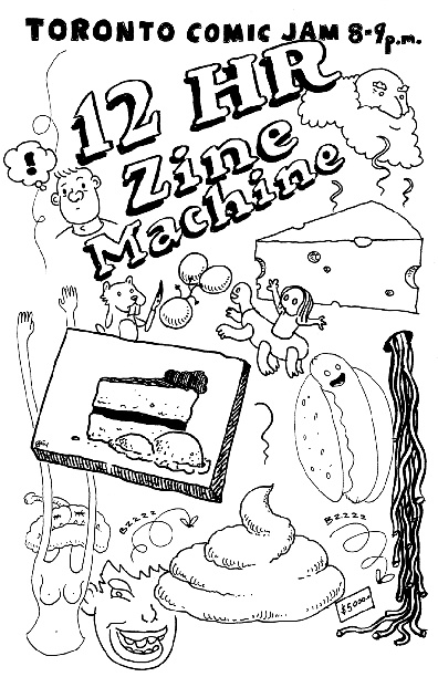 12 HR Zine Machine - Toronto Comic Jam + 8-9