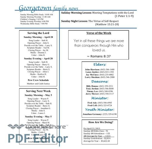April 28 Bulletin