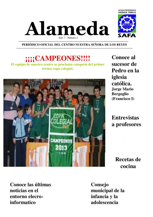 Periódico Alameda - Marzo 2013