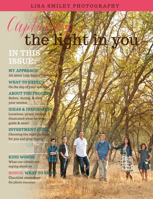 Capturing the Light in You Magazine by Lisa Smiley Photography