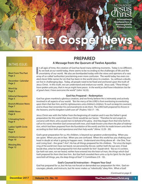 Gospel News Dec 2017
