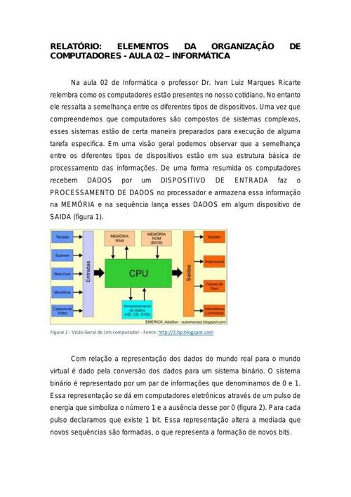 Relatório Aula 02 - Informática