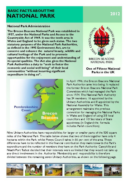 Basic Facts About Brecon Beacons National Park 2012