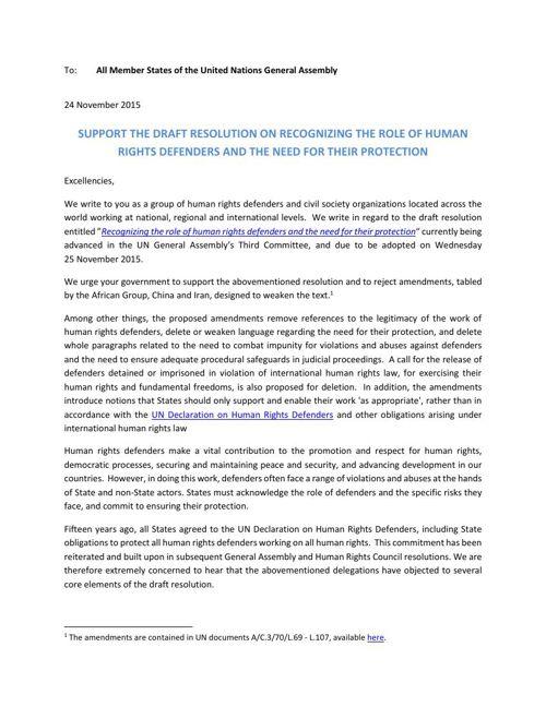 Joint NGO letter - 24Nov2015