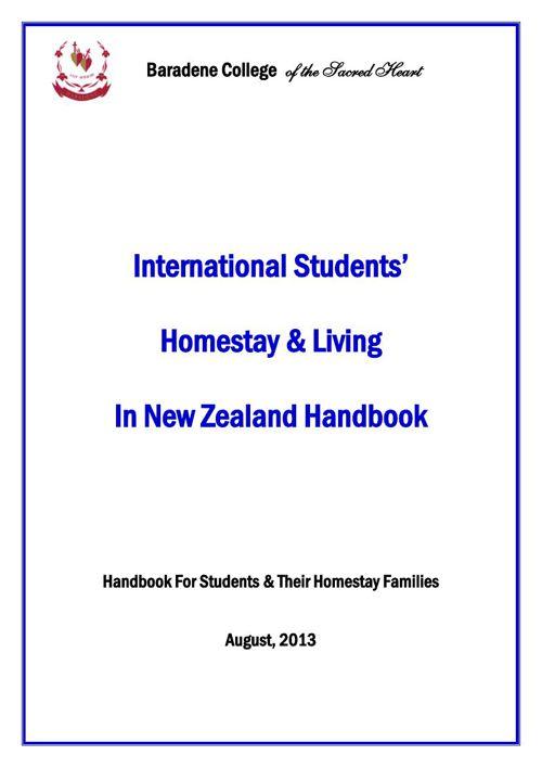 Internation Students Handbook