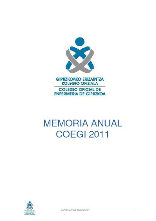 MEMORIA DE GESTION COEGI 2011