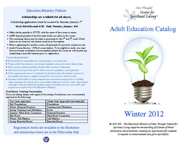 Winter Class Catalog