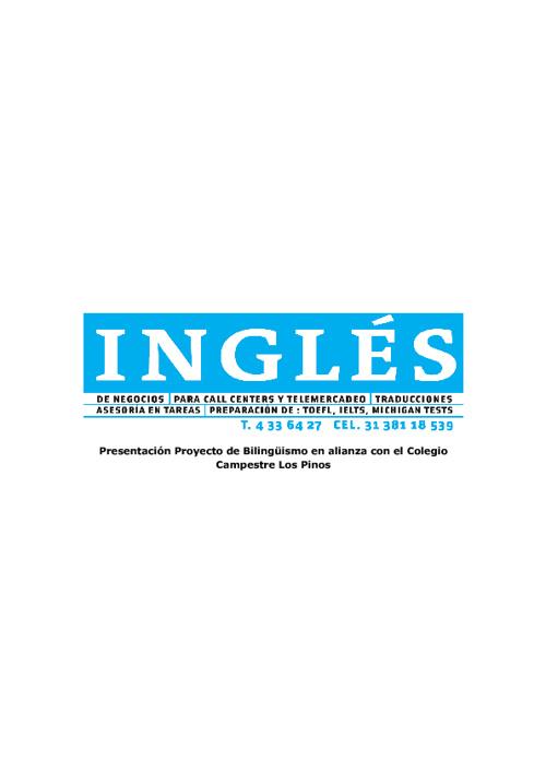 Presentación Proyecto Bilingüismo