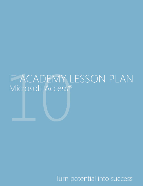 MS Access 2010 Lesson Plans