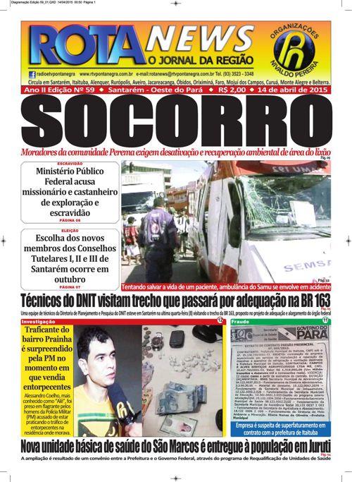 Jornal Rota News - Ano II Edição LIX - 14 de abril de 2015